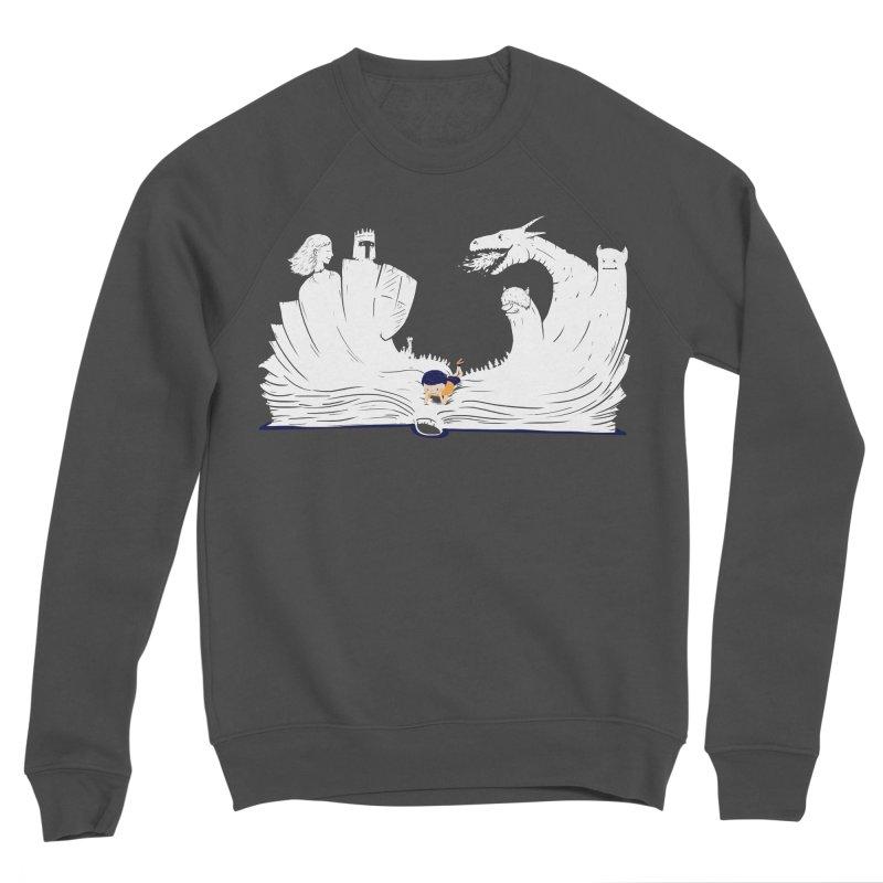 Words create worlds Women's Sponge Fleece Sweatshirt by Arkady's print shop