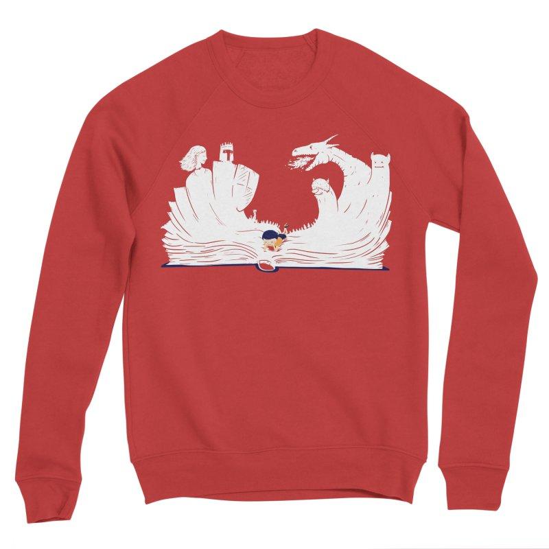 Words create worlds Men's Sponge Fleece Sweatshirt by Arkady's print shop