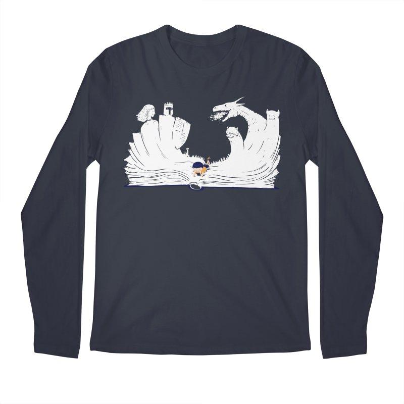 Words create worlds Men's Longsleeve T-Shirt by Arkady's print shop