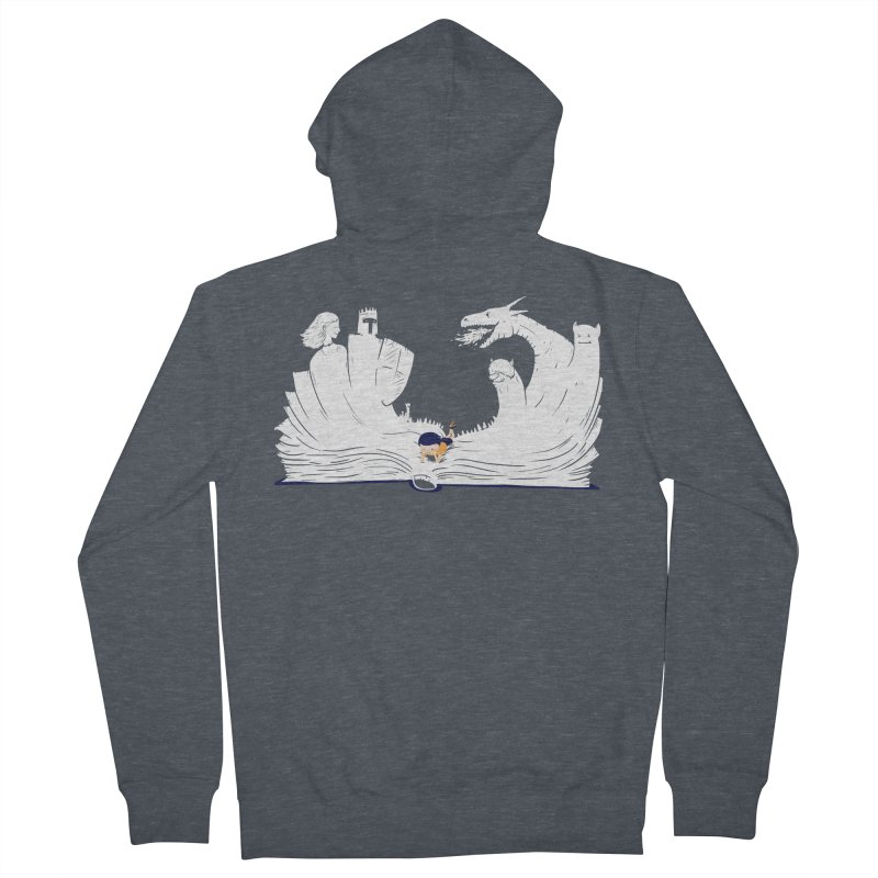 Words create worlds Men's French Terry Zip-Up Hoody by Arkady's print shop
