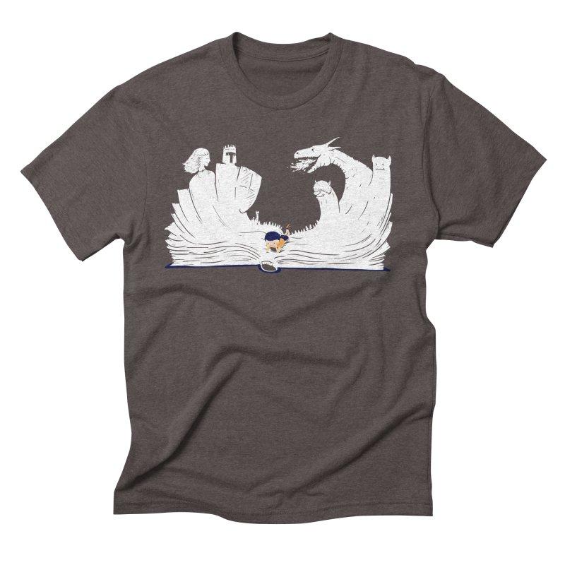 Words create worlds Men's Triblend T-Shirt by Arkady's print shop