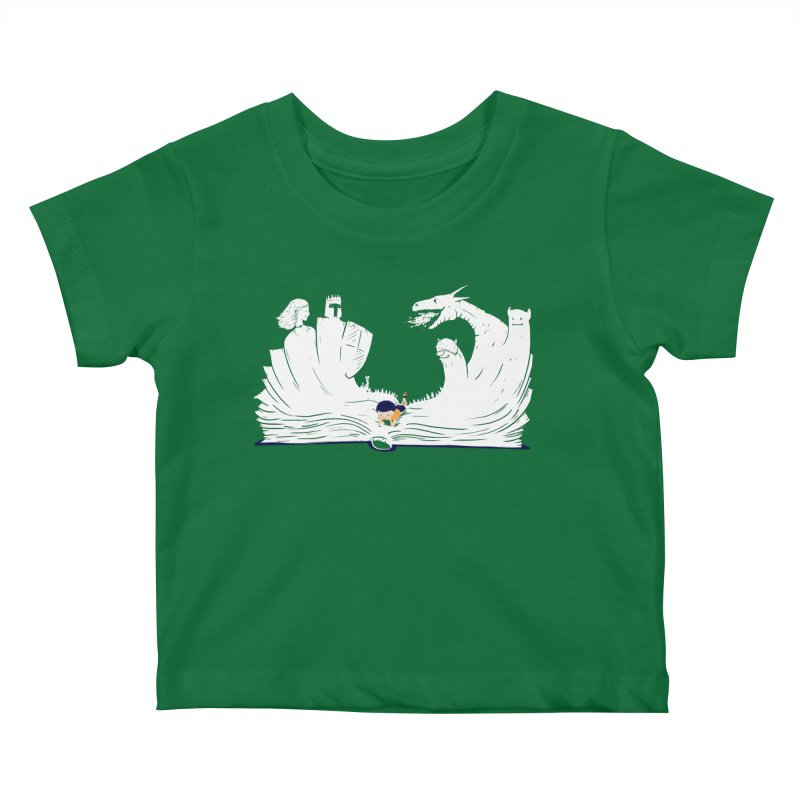 Words create worlds Kids Baby T-Shirt by Arkady's print shop