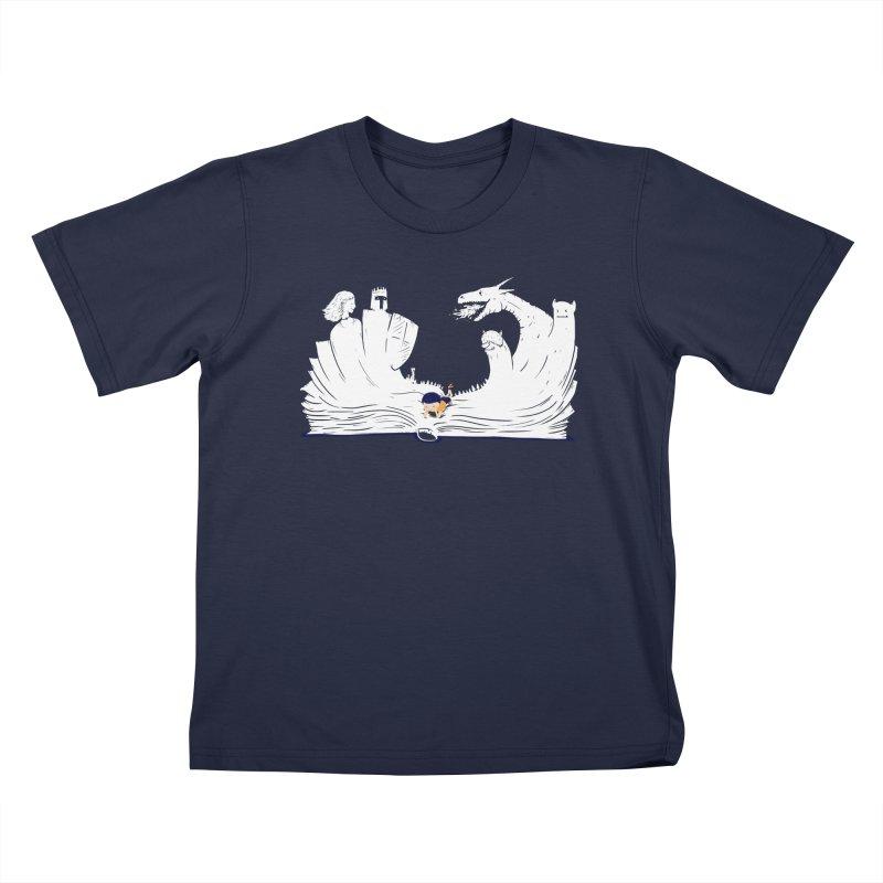 Words create worlds Kids T-Shirt by Arkady's print shop