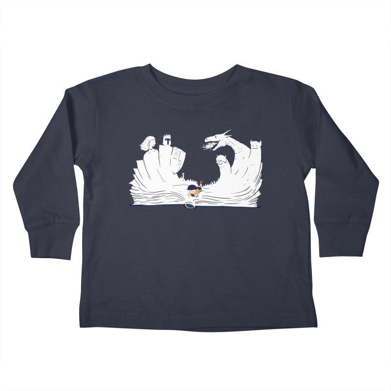 Words create worlds Kids Toddler Longsleeve T-Shirt by Arkady's print shop