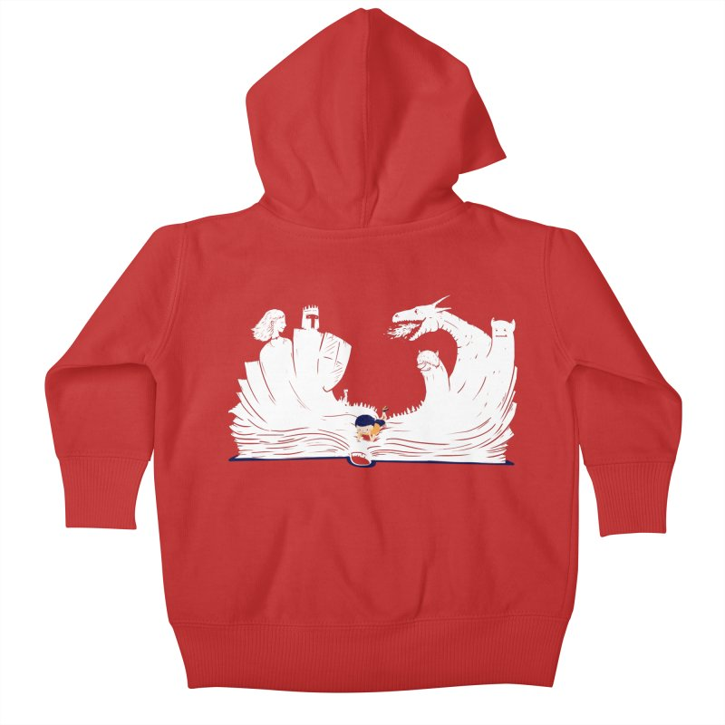 Words create worlds Kids Baby Zip-Up Hoody by Arkady's print shop