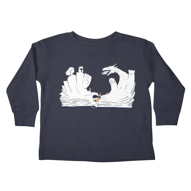 Words create worlds Kids Toddler Longsleeve T-Shirt by Arkady's print shop