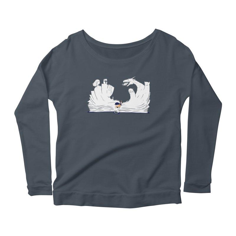 Words create worlds Women's Scoop Neck Longsleeve T-Shirt by Arkady's print shop