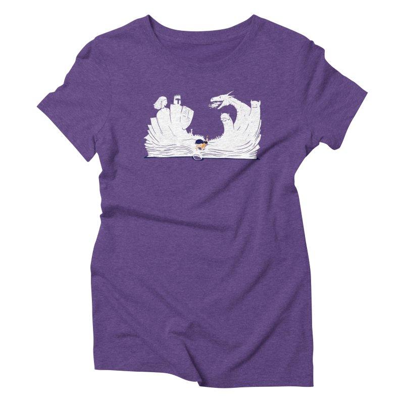 Words create worlds Women's Triblend T-Shirt by Arkady's print shop