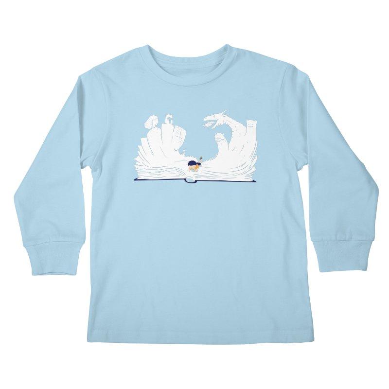 Words create worlds Kids Longsleeve T-Shirt by Arkady's print shop