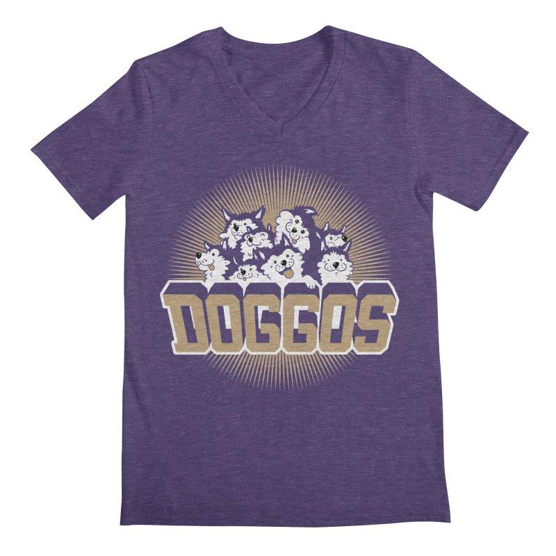 DOGGOS Men's V-Neck by Arlen Pringle
