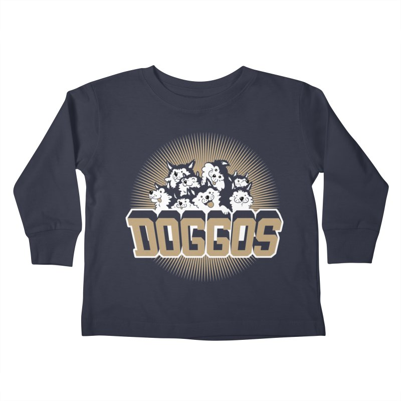 DOGGOS Kids Toddler Longsleeve T-Shirt by Arlen Pringle