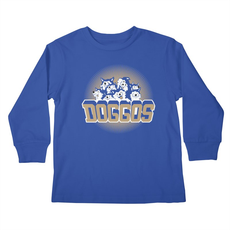 DOGGOS Kids Longsleeve T-Shirt by Arlen Pringle