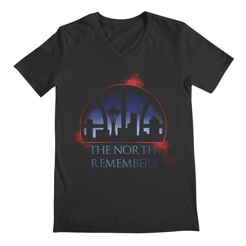 The North Remembers Men's V-Neck by Arlen Pringle