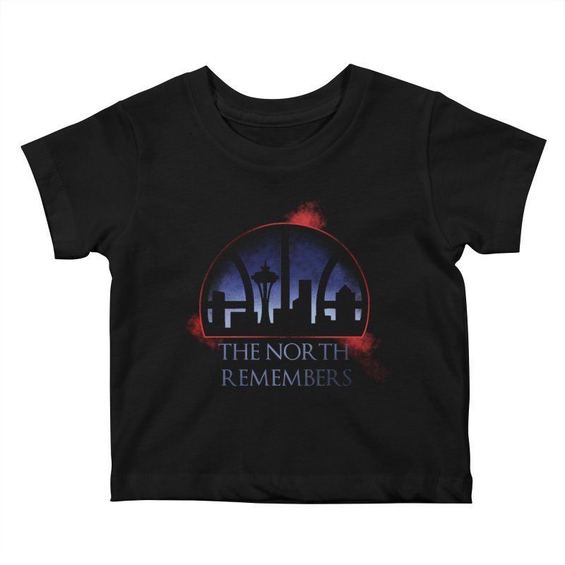 The North Remembers Kids Baby T-Shirt by Arlen Pringle