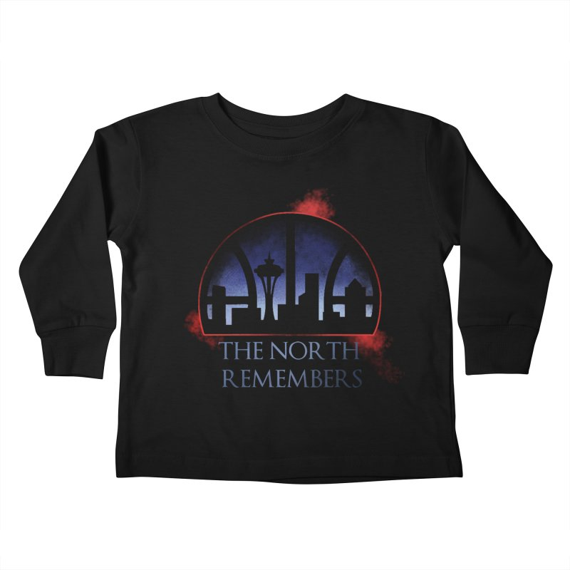 The North Remembers Kids Toddler Longsleeve T-Shirt by Arlen Pringle