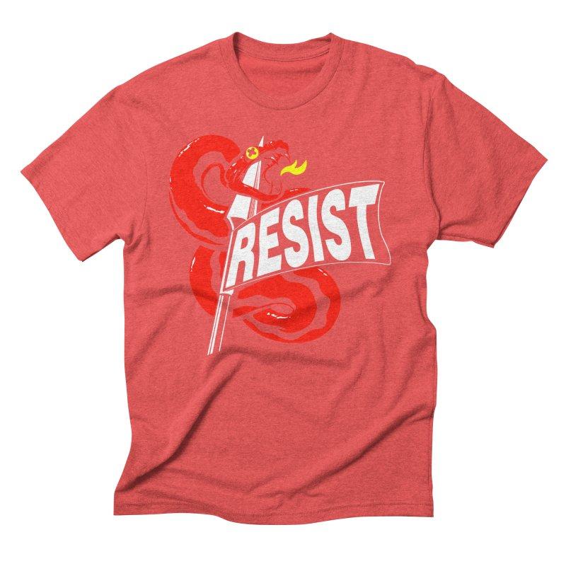 Resist Men's Triblend T-Shirt by Arlen Pringle