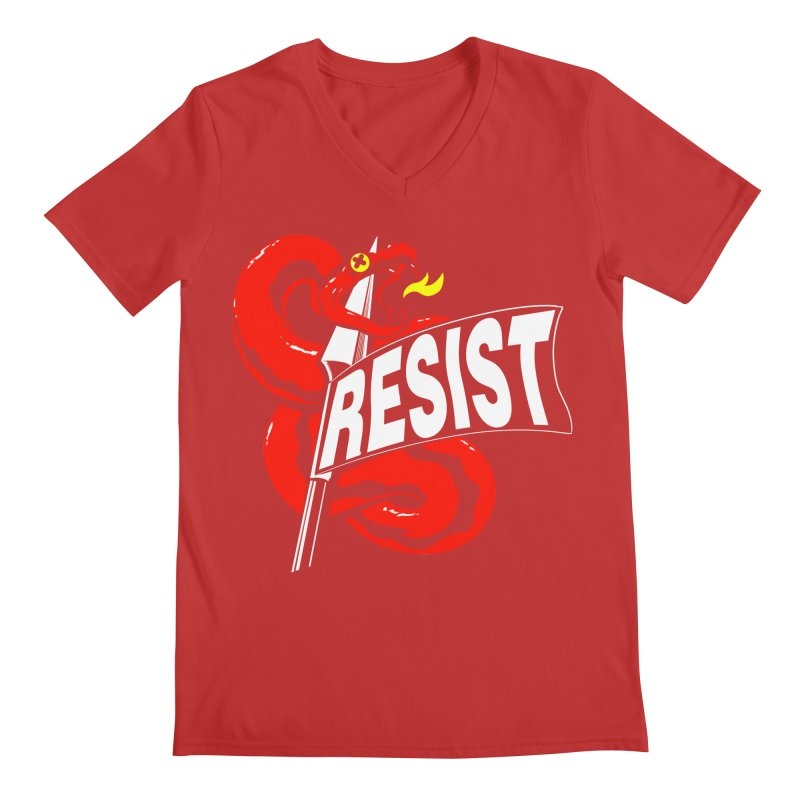 Resist Men's V-Neck by Arlen Pringle