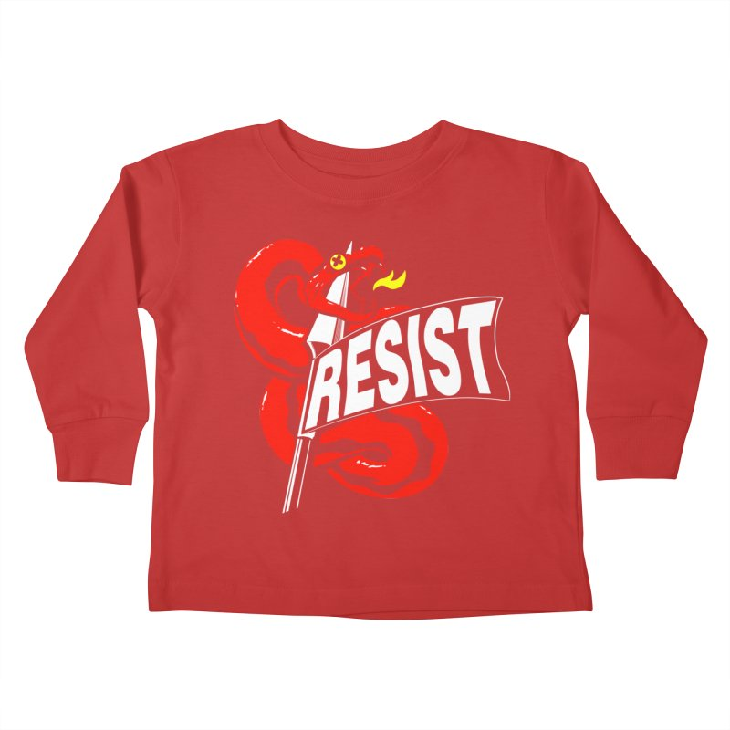Resist Kids Toddler Longsleeve T-Shirt by Arlen Pringle