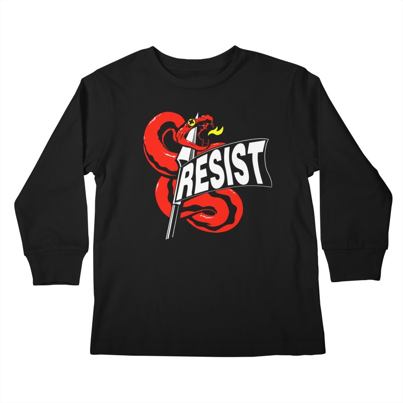 Resist Kids Longsleeve T-Shirt by Arlen Pringle