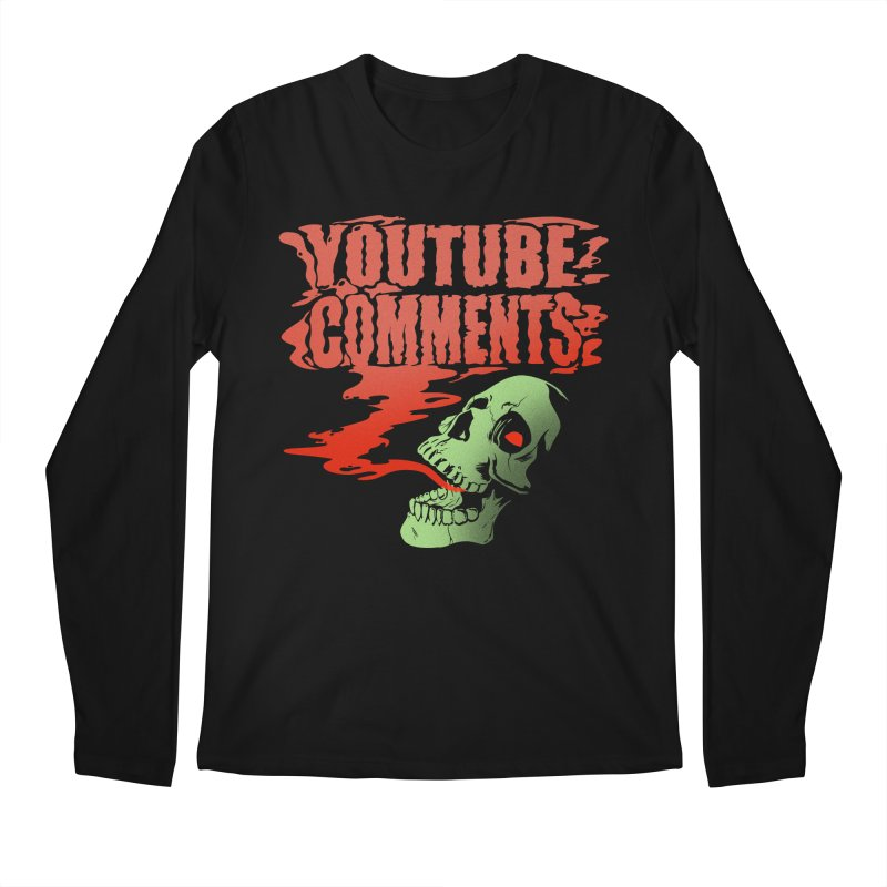 Youtube Comments Men's Longsleeve T-Shirt by Arlen Pringle