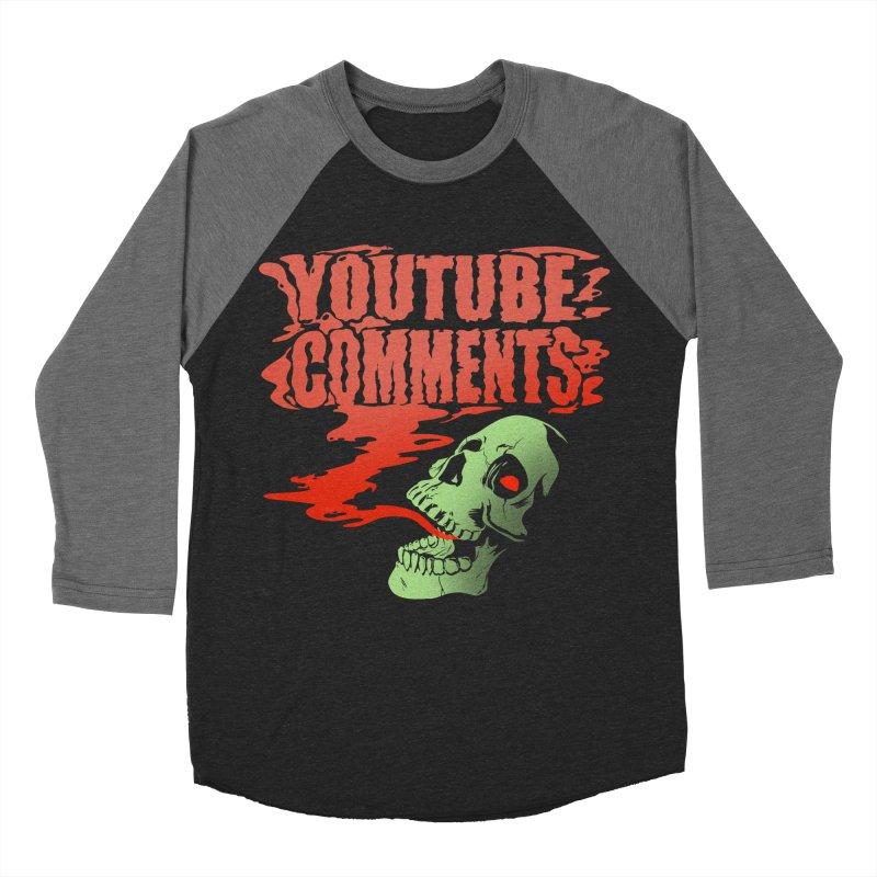 Youtube Comments Men's Baseball Triblend T-Shirt by Arlen Pringle