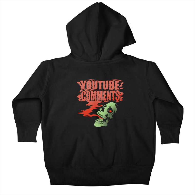 Youtube Comments Kids Baby Zip-Up Hoody by Arlen Pringle