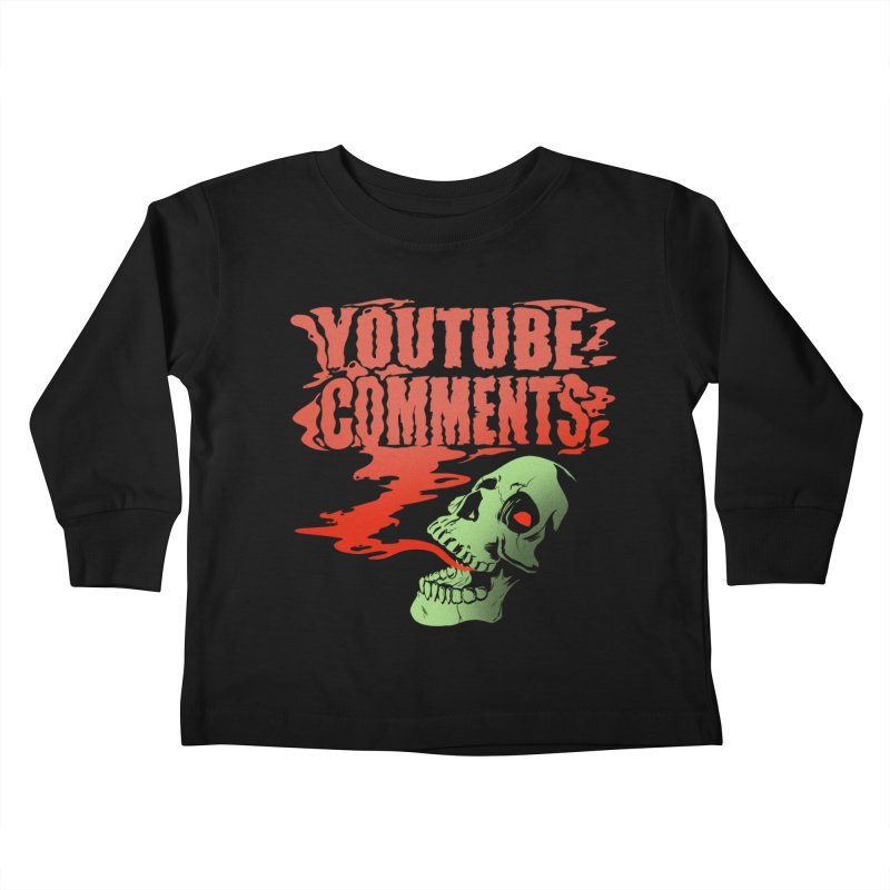 Youtube Comments Kids Toddler Longsleeve T-Shirt by Arlen Pringle