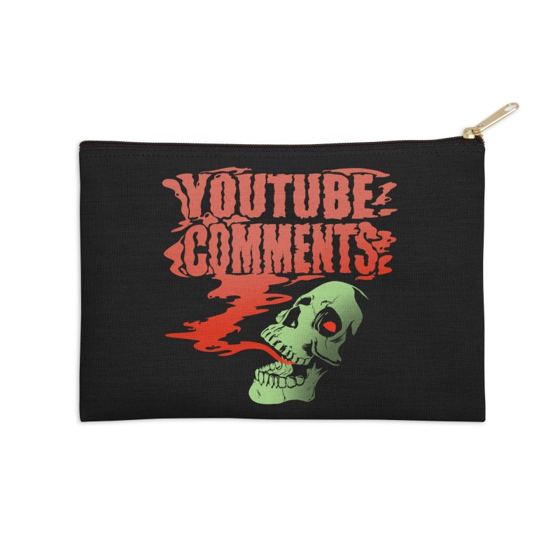 Youtube Comments Accessories Zip Pouch by Arlen Pringle