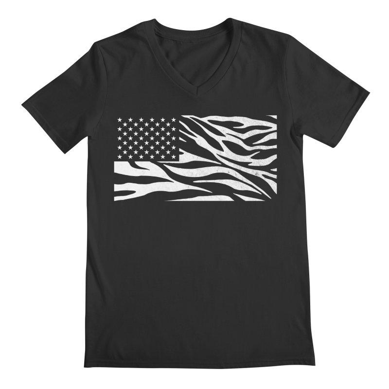 Wild America Men's V-Neck by Arlen Pringle