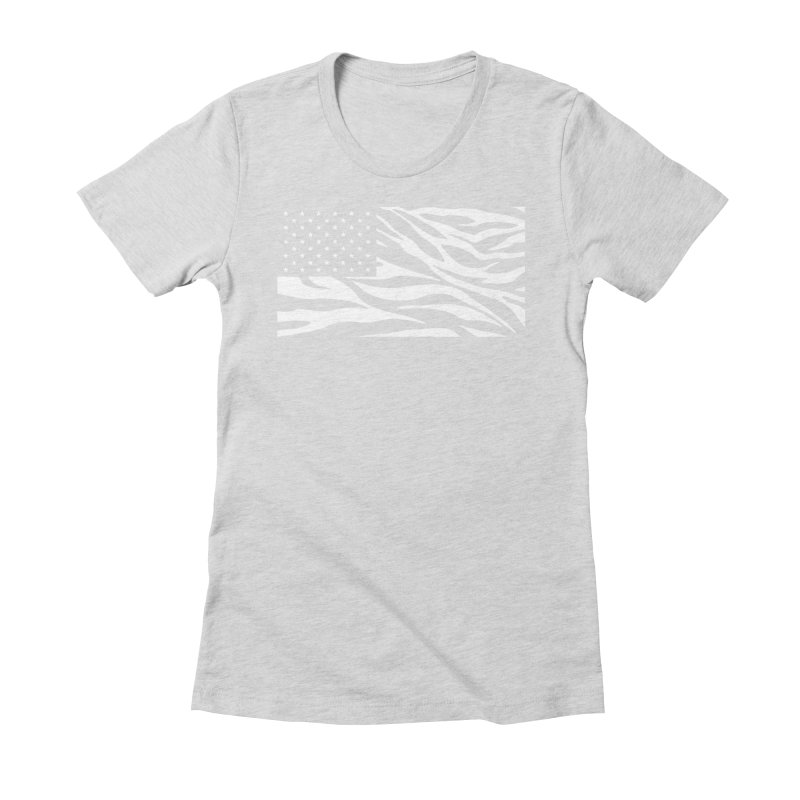 Wild America Women's Fitted T-Shirt by Arlen Pringle