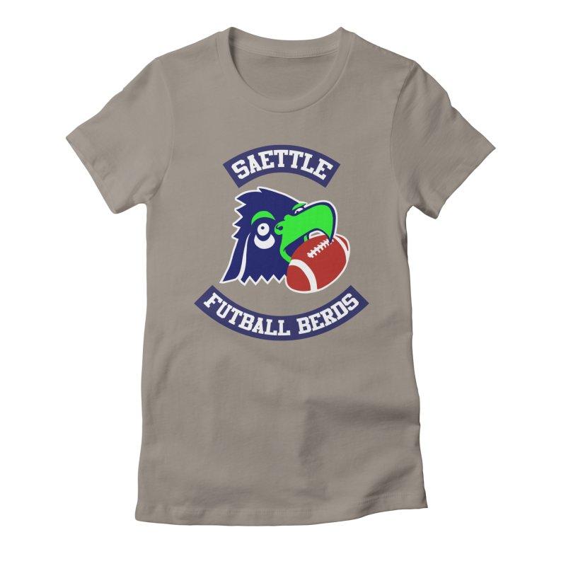 My favorite sports berd Women's Fitted T-Shirt by Arlen Pringle