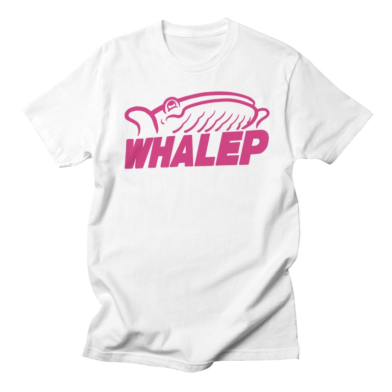WHALEP (Pink Linework) Men's T-shirt by Arlen Pringle