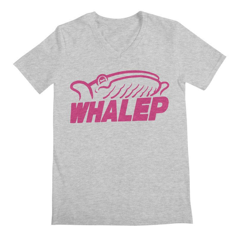 WHALEP (Pink Linework) Men's V-Neck by Arlen Pringle