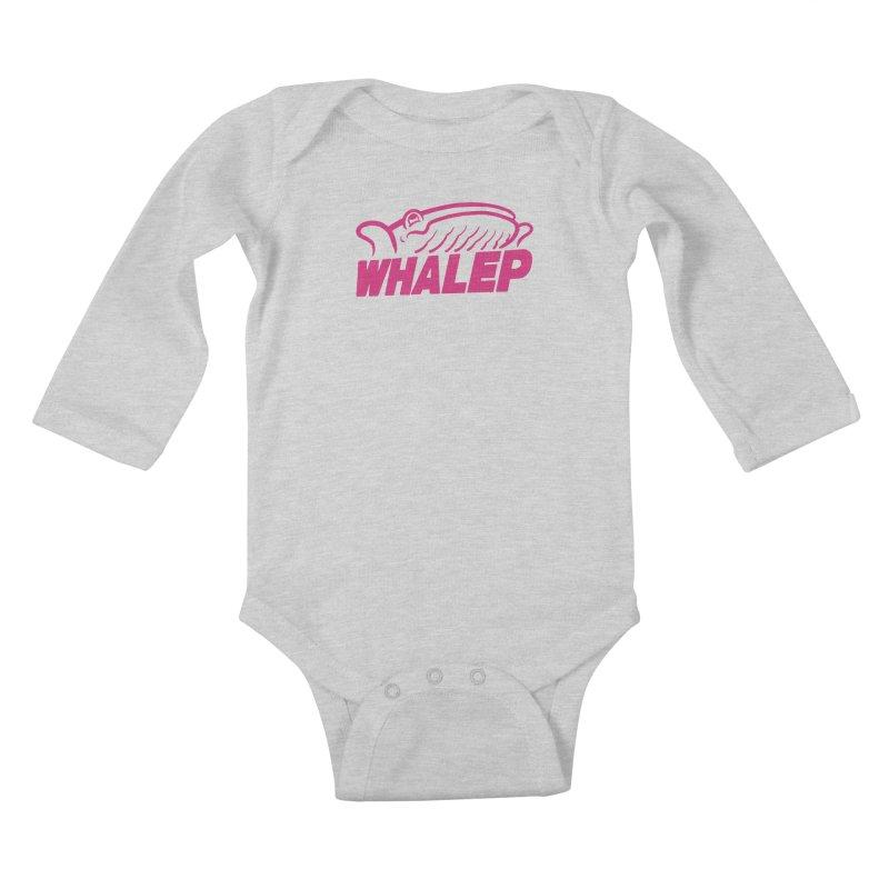 WHALEP (Pink Linework) Kids Baby Longsleeve Bodysuit by Arlen Pringle