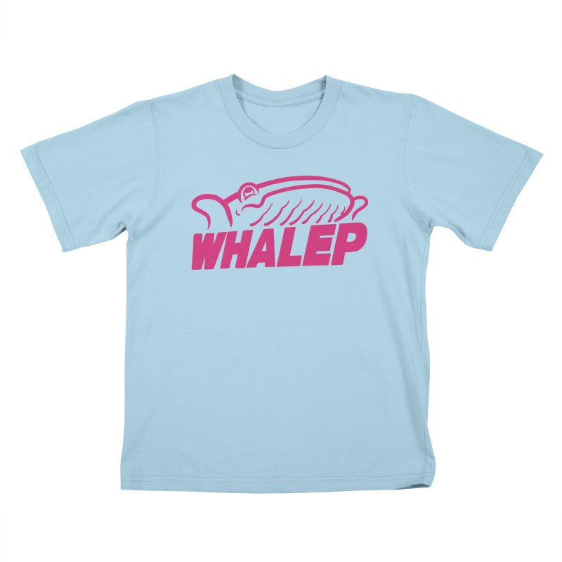 WHALEP (Pink Linework) Kids T-Shirt by Arlen Pringle