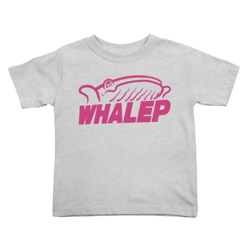 WHALEP (Pink Linework) Kids Toddler T-Shirt by Arlen Pringle