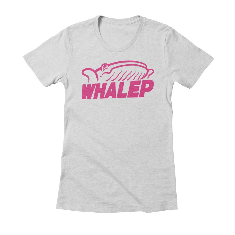 WHALEP (Pink Linework) Women's Fitted T-Shirt by Arlen Pringle