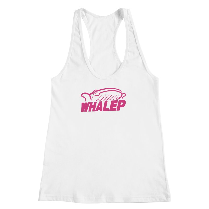 WHALEP (Pink Linework) Women's Racerback Tank by Arlen Pringle