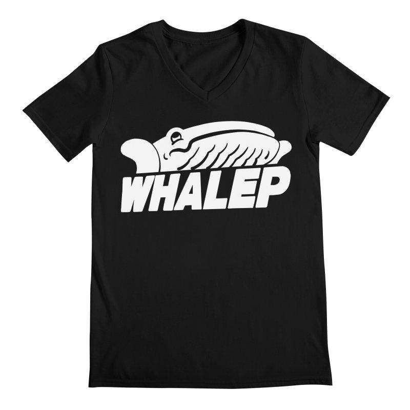WHALEP (White Linework) Men's V-Neck by Arlen Pringle