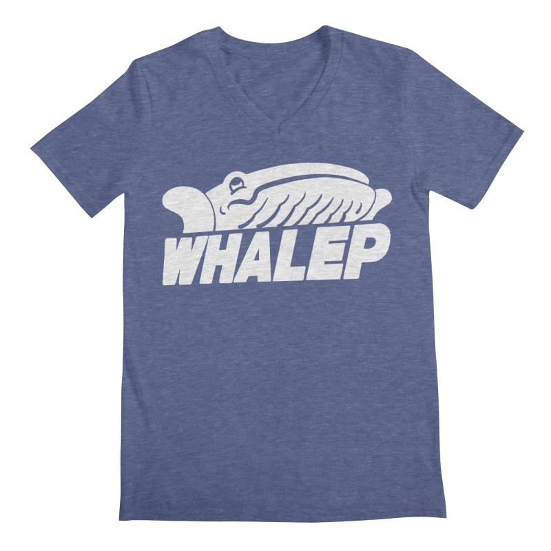 WHALEP (White Linework) Men's V-Neck by Arlen Pringle