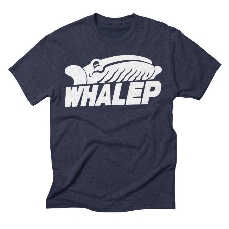 WHALEP (White Linework) Men's Triblend T-shirt by Arlen Pringle