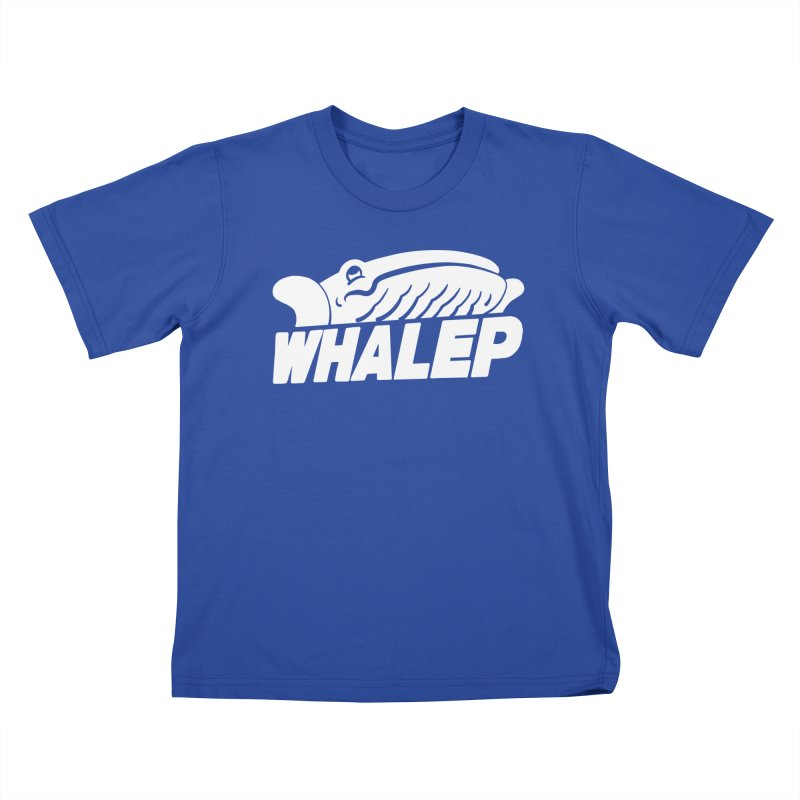 WHALEP (White Linework) Kids T-Shirt by Arlen Pringle