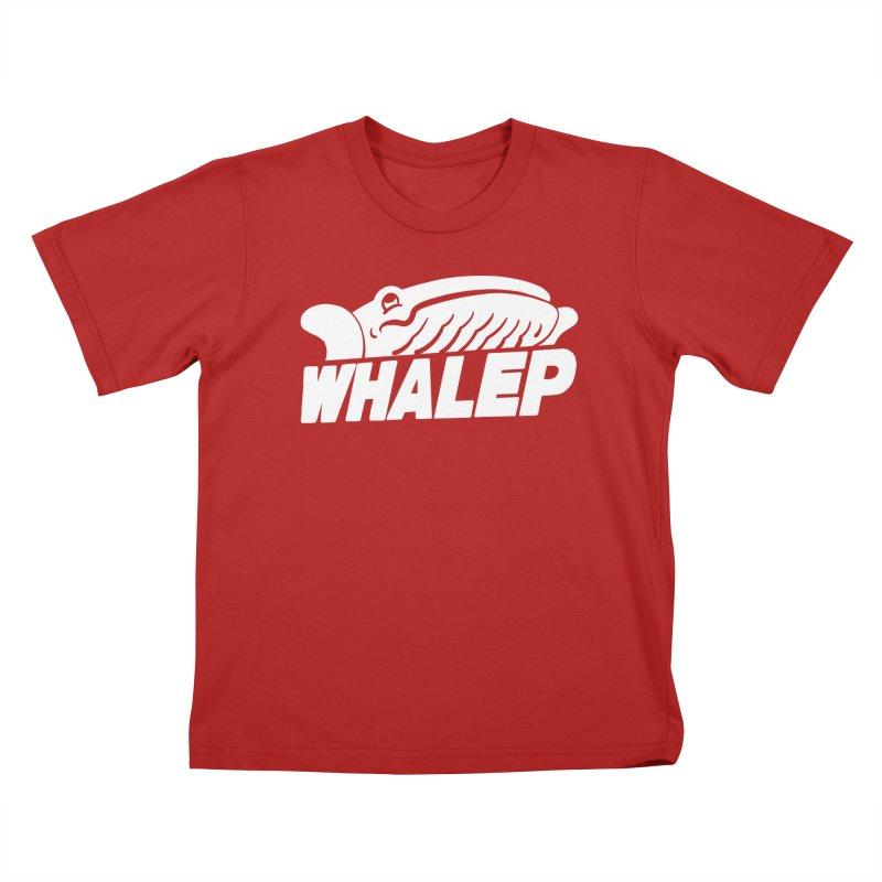 WHALEP (White Linework) Kids T-shirt by Arlen Pringle