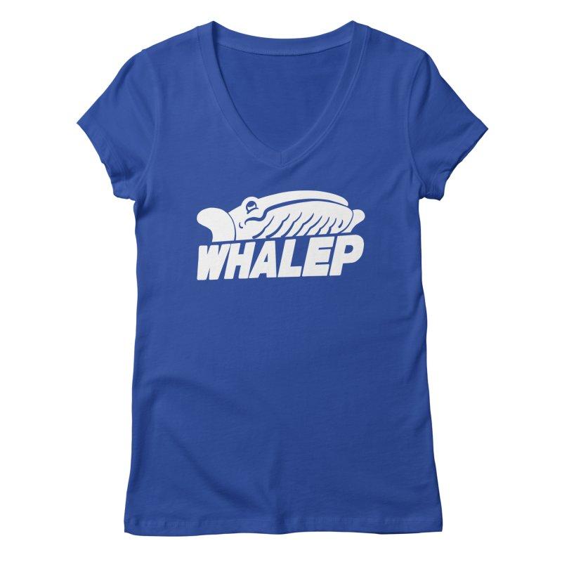WHALEP (White Linework) Women's V-Neck by Arlen Pringle