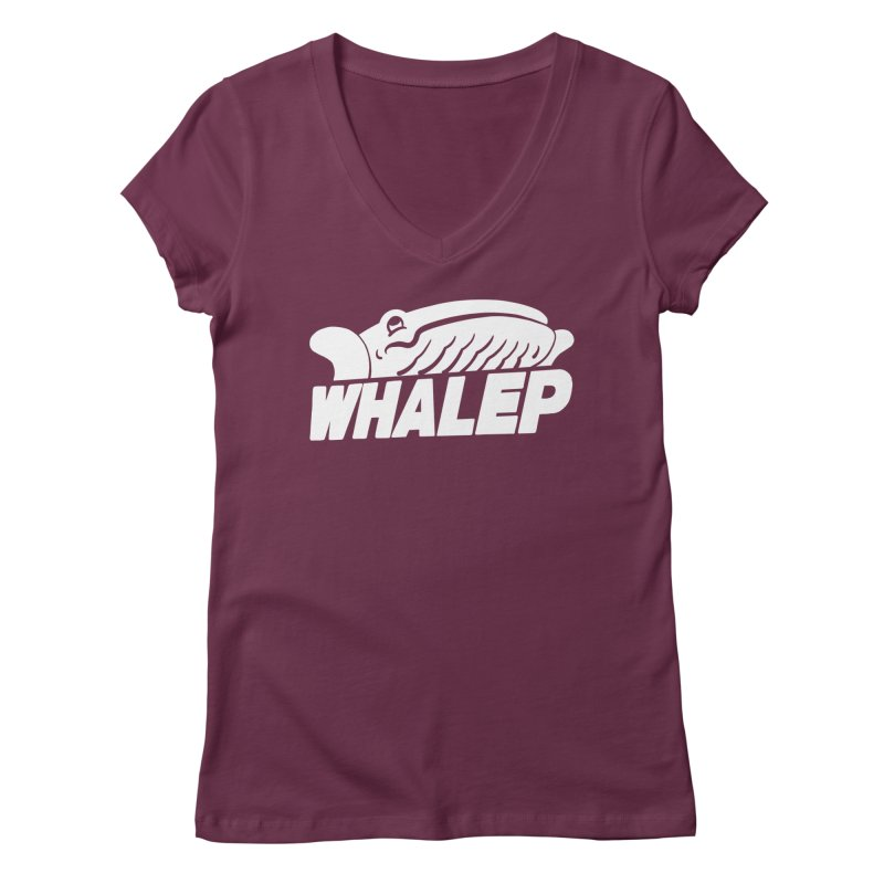 WHALEP (White Linework) Women's V-Neck by Arlen Pringle