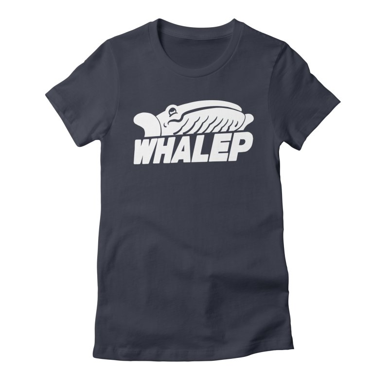 WHALEP (White Linework) Women's Fitted T-Shirt by Arlen Pringle
