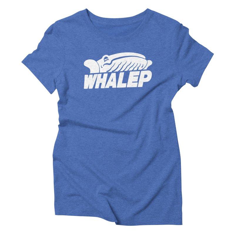 WHALEP (White Linework) Women's Triblend T-Shirt by Arlen Pringle