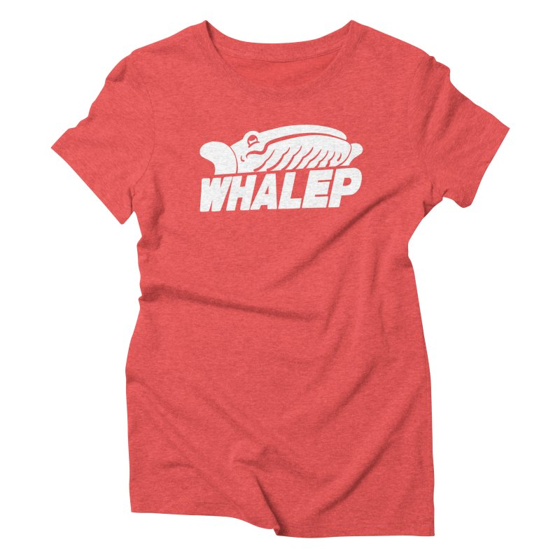 WHALEP (White Linework) Women's Triblend T-shirt by Arlen Pringle