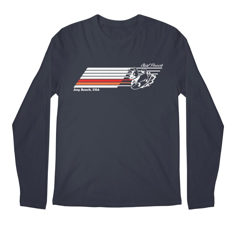 Surf Pooch Men's Longsleeve T-Shirt by Arlen Pringle