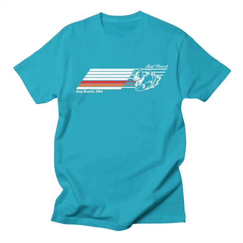 Surf Pooch Men's T-shirt by Arlen Pringle